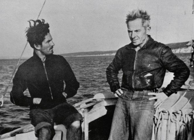 Frank Wightman and Graham Young aboard Wylo A (Small)