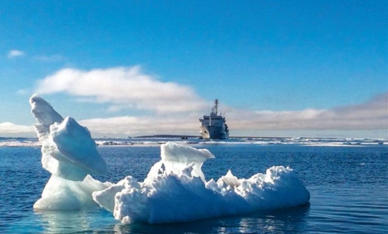 MELTING ARCTIC ICE OPENS NEW ROUTE
