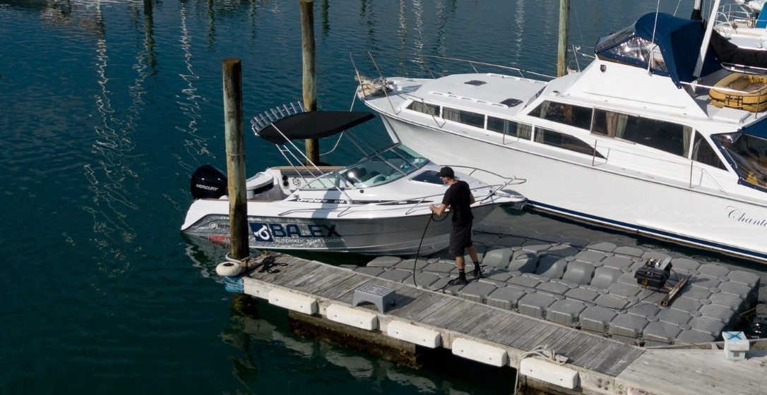 Balex Dock showcased at on Water Boat show
