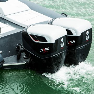 CXO300 diesel outboards at Monaco