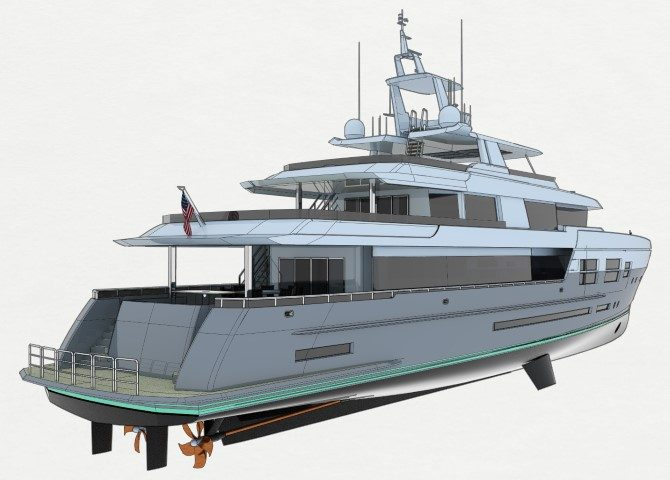 Ultra-efficient hybrid explorer yacht concept
