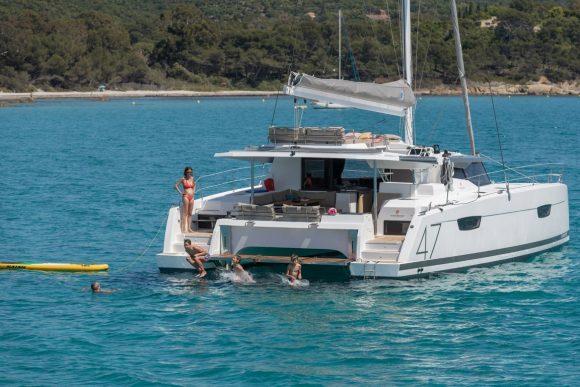 Award-winning catamaran at Pittwater Sail Expo