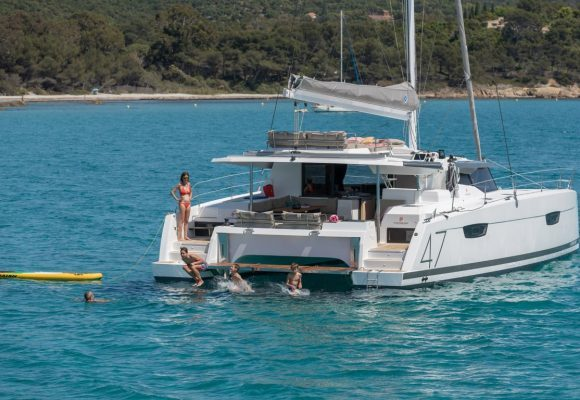 Award-winning catamaran at Pittwater Sail Expo
