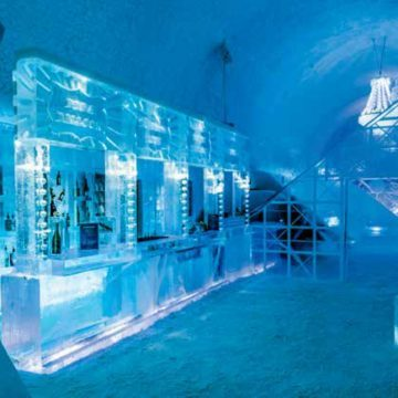 Check-in at the Ice Hotel
